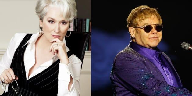 """Elton John va composer la musique de la comédie musicale """"Le Diable s'habille en Prada""""."""
