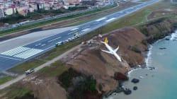 Un avión turco con 162 pasajeros cae por un acantilado sin que haya