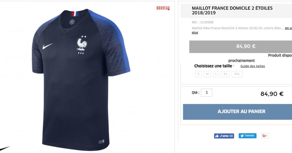 Le Maillot De L Equipe De France A 2 Etoiles Deja Epuise Sur La