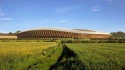 Le premier stade de foot entièrement en bois ressemblera à
