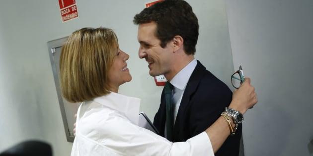 Pablo Casado junto a María Dolores de Cospedal.