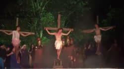"""Un hombre agrede a los romanos para """"salvar"""" a Jesucristo durante una representación de Semana"""