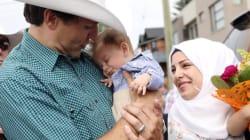Justin y Justin: el primer ministro de Canadá conoce a un bebé refugiado que lleva su