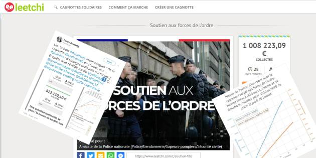 La plateforme Leetchi s'explique sur les accusations de manipulation visant la cagnotte de soutien aux policiers.