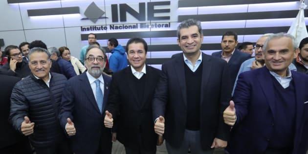 Sellan PRI-PVEM y Panal alianza 'Meade Ciudadano'