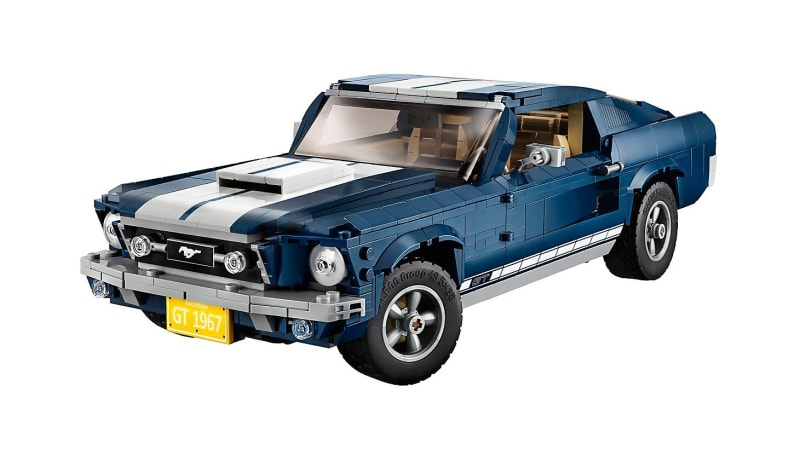 Lego 1967 Ford Mustang Fastback Is A Complex 1500 Piece Kit