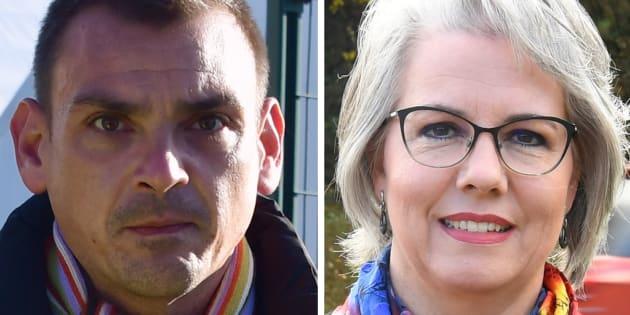 """Les """"gilets jaunes libres"""", portés par Jacline Mouraux et Benjamin Cauchy, se disent prêts à négocier avec le gouvernement."""