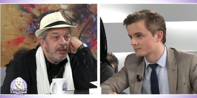 Philippe Pascot interviewé sur le plateau des Enfants de la Politique