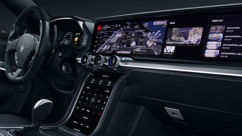 samsung harman show autonomous car parts digital cockpit at ces autoblog. Black Bedroom Furniture Sets. Home Design Ideas