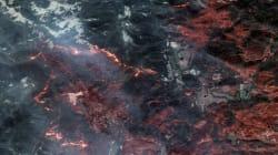 Vus de l'espace, les incendies en Californie sont encore plus