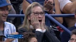 Cette réaction de Meryl Streep pendant la finale de l'US Open mériterait un prix