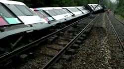 Les images du RER B couché sur les voies après avoir