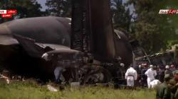 Les images de l'avion militaire après le crash survenu en