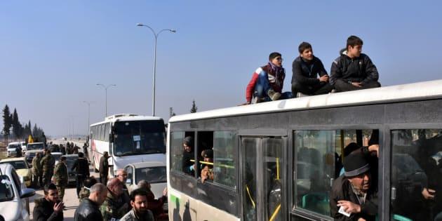 Évacuation d'Alep en Syrie, le 19 décembre.