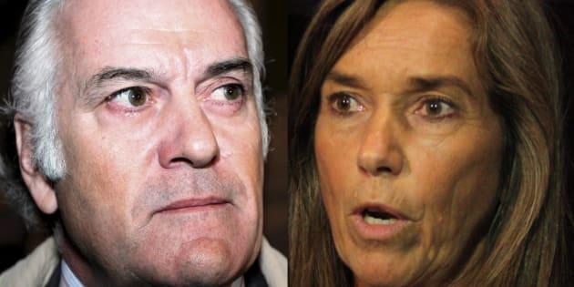 Luis Bárcenas y Ana Mato, en sendas fotos de archivo.
