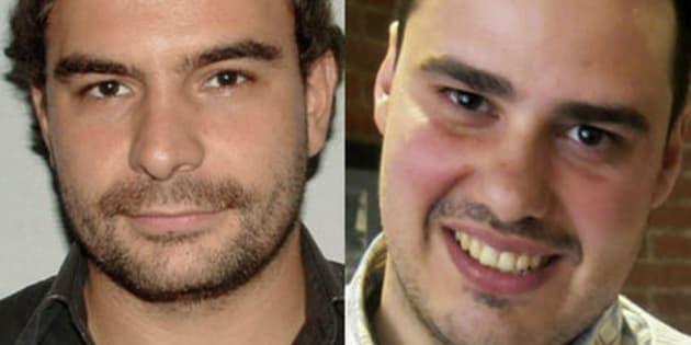 Ángel Sastre y Antonio Pampliega, en sendas imágenes de archivo.