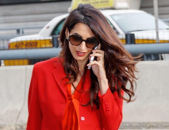 Amal Clooney returns to work in stunning ensemble
