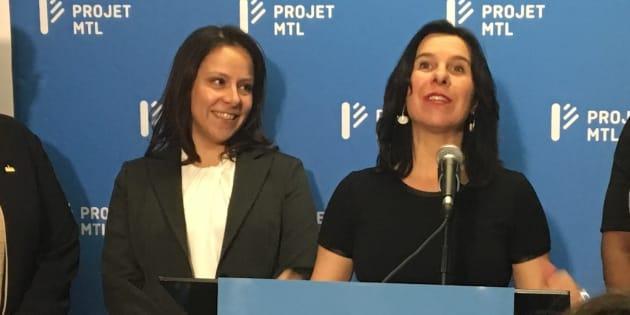 Caroline Bourgeois et Valérie Plante.