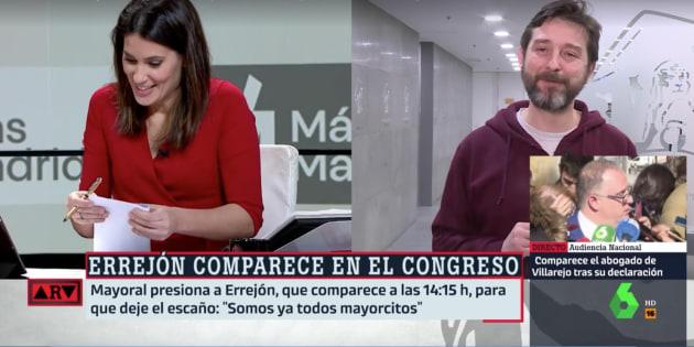 María Llapart y Mayoral en 'Al Rojo Vivo'.