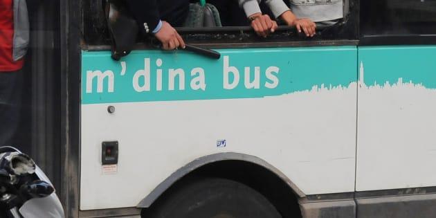 Un bus de la société M'dina Bus en 2013 à Casablanca.