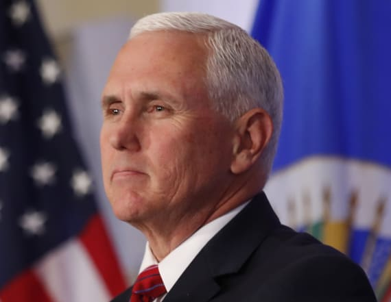 Pence tweets one word in response to anthem decision