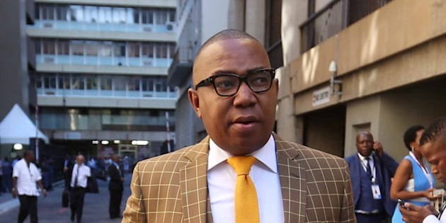 Mduduzi Manana on the red carpet at the state opening of Parliament on February 16 2018 in Cape Town.
