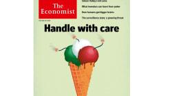 L'Economist mette in copertina un gelato-bomba tricolore.