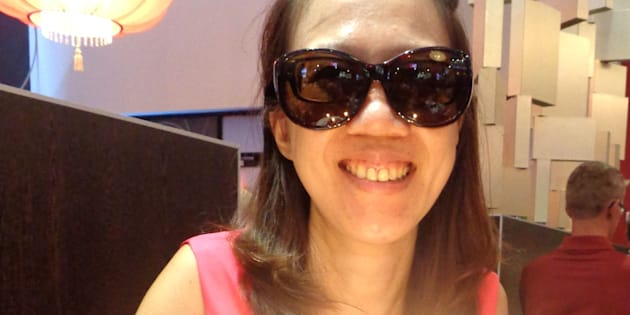 Patty Tsai Griffin, 39, has to wear sunglasses, even indoors, because of her glaucoma.