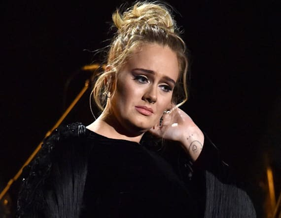 Adele visited the London apartment fire to help
