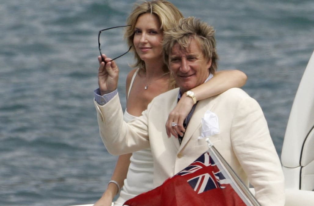 rod stewart and penny lancaster renew their wedding vows