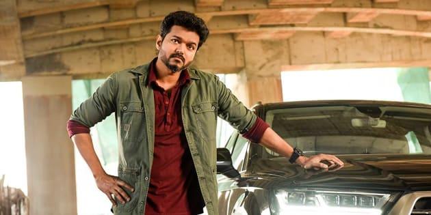 Vijay in a still from 'Sarkar'.