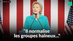 Clinton nous avait prévenus de la menace suprémaciste et raciste que cachait