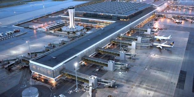 Vista aérea del aeropuerto de Málaga.
