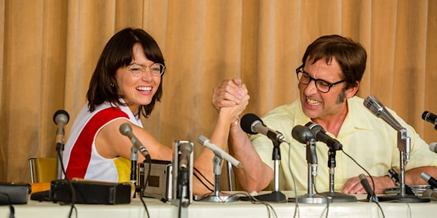 Emma Stone e Steve Carell são Billie Jean King e Bobby Riggs em novo filmes dos diretores de 'Pequena Miss Sunshine'.