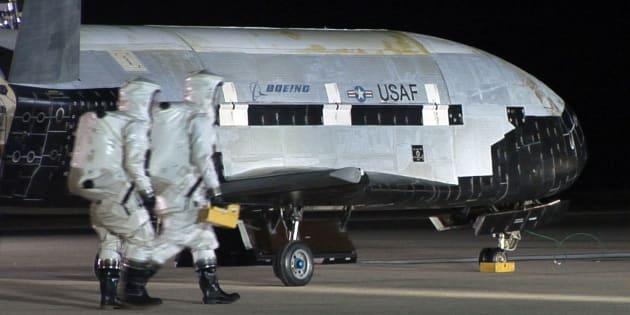 Le X37-B, un vaisseau spatial top-secret de l'US Air Force.