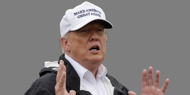Donald Trump à la frontière avec le Mexique début janvier