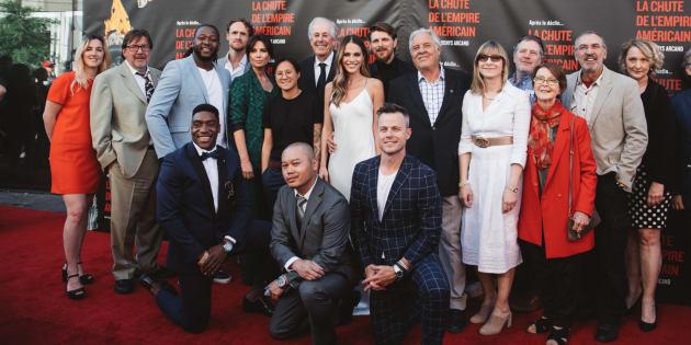 L'équipe du film «La chute de l'empire américain».
