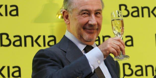 Rodrigo Rato, exvicepresidente del Gobierno y de Bankia, en un acto de la entidad.