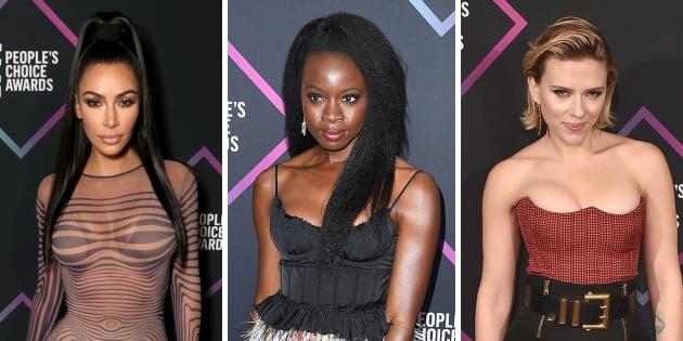 Kim Kardashian, Danai Gurira et Scarlett Johansson aux People Choice Awards