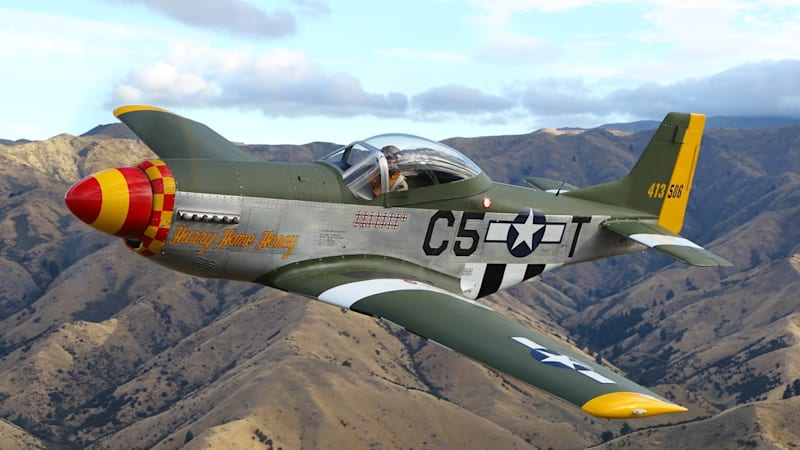 This P-51 Mustang replica flies with a Honda Odyssey engine