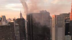 Un blessé grave dans l'incendie au sommet de la Trump Tower de New
