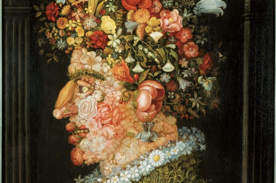 Giuseppe Arcimboldo, La Primavera 1555-1569 circa, Olio su tela - Monaco di Baviera, Bayerische Staatsgemäldesammlungen