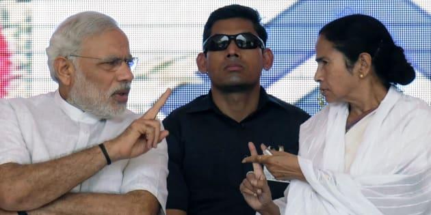 File photo of Prime Minister Narendra Modi and Chief Minister Mamata Banerjee.
