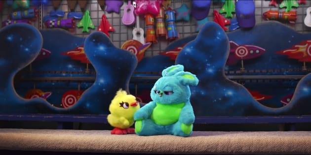 Le nouveau trailer de Toy Story 4 dévoile deux nouveaux personnages, Ducky et Bunny.
