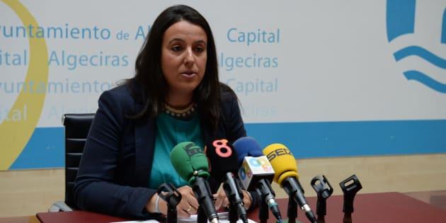 Laura Ruiz, en una imagen de la web del consistorio algecireño.