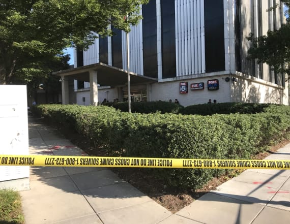 Guard shoots man trying to get into TV station