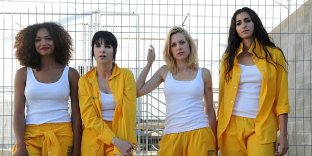 Las actrices Berta Vázquez, Najwa Nimri, Maggie Civantos y Alba Flores.