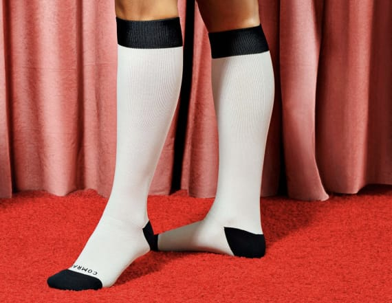 These compression socks are temperature-controlled