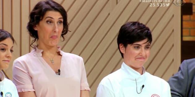 A chef Paola Carosella e as vencedoras Elisa Fernandes e Isabel Alvares arrasaram no programa.