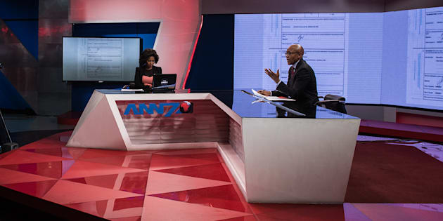 The New Age and ANN7 proprietor Mzwanele Manyi during the announcement on the shareholding of his company Lodidox on August 30, 2017 in Johannesburg.